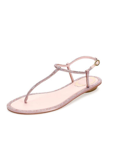 Сандалии Rene Caovilla стразы розовые | Summer sandals Rene Caovilla pink