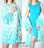 "Кардиган ""Пушистик"" цвет Tiffany 