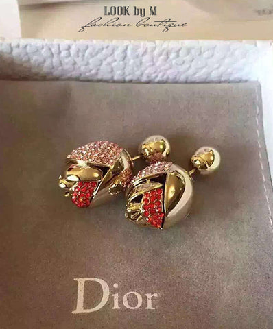 "Серьги Dior ""Роза"" 