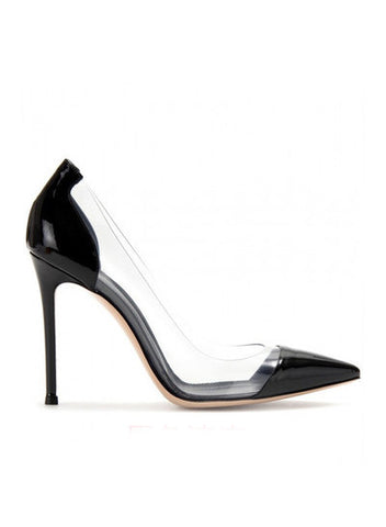 Туфли Gianvito Rossi черные | Gianvito Rossi pvc pumps black