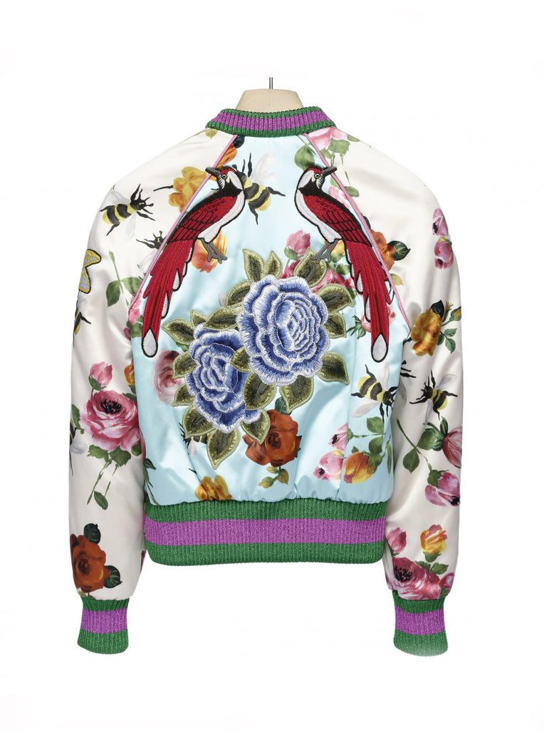 Бомбер Gucci розы | Bomber Gucci rose