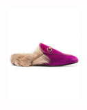 Тапочки Gucci бархат мех | Slippers Gucci velvet fur