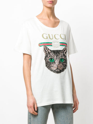 Футболка Gucci кот | Gucci t-shirt cat