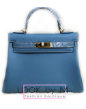 Сумка Hermes Kelly голубая | Hermes Kelly blue bag