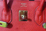 Сумка Hermes Birkin красная | Hermes Birkin Bag red