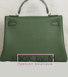 Сумка Hermes Kelly зеленая | Hermes Kelly green bag
