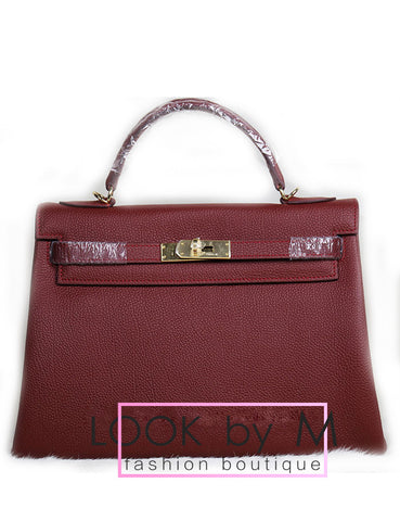 Сумка Hermes Kelly бордо | Hermes Kelly burgundy bag