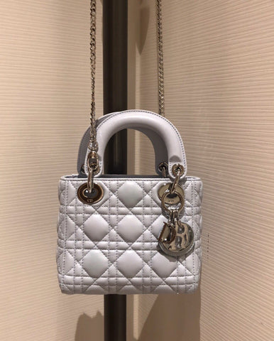 Сумка Lady Dior mini голубые | Lady CD mini bag blue