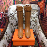 Сапоги Hermes 2018 | Hermes leather boots