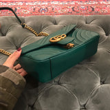 Сумка Gucci Marmont медиум зеленая | Gucci Marmont medium green bag