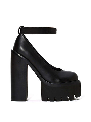 Туфли Jeffrey Campbell черные с застежкой | Jeffrey Campbell black pumps