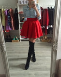 Юбка клеш неопрен | Neoprene skirt