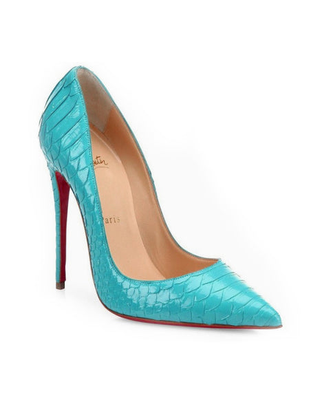 Лодочки Christian Louboutin So Kate питон бирюза | Christian Louboutin So Kate phyton