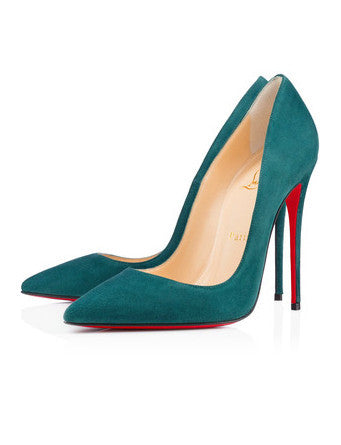 Лодочки Christian Louboutin So Kate замша изумруд | Pumps Christian Louboutin So Kate suede