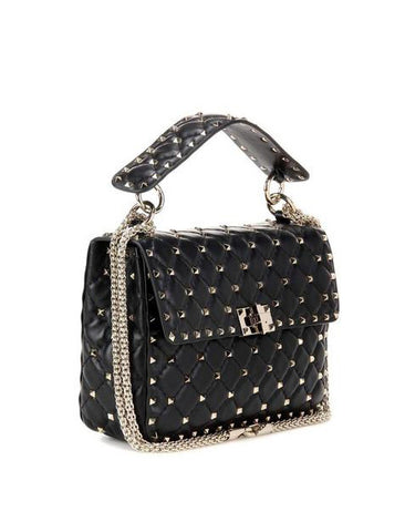 Сумка Valentino Rockstud Spike Medium черная | Valentino Rockstud Spike Medium Black Bag