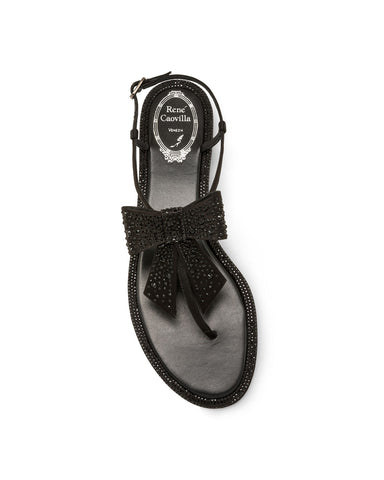 Сандалии Rene Caovilla черный бант | Summer sandals Rene Caovilla black
