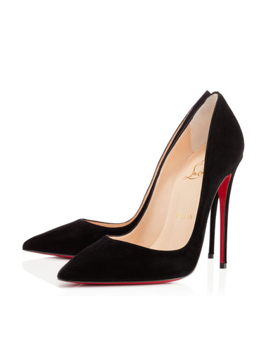 Лодочки Christian Louboutin So Kate черная замша | Christian Louboutin So Kate black
