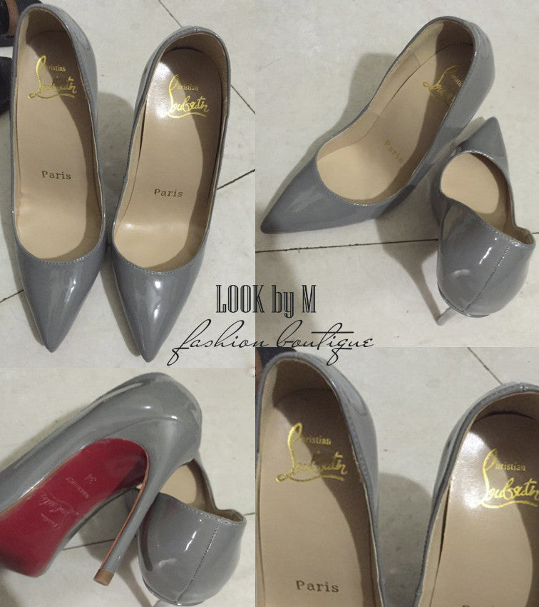Лодочки Christian Louboutin So Kate серые | Pumps Christian Louboutin So Kate gray