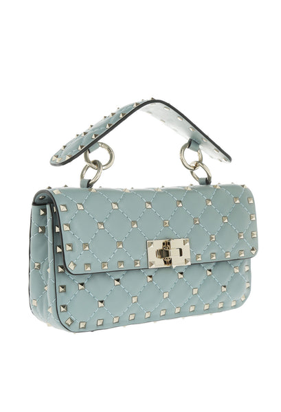 Сумка Valentino Rockstud Spike Mini серо-голубая | Valentino Rockstud Spike Mini Blue Gray Bag