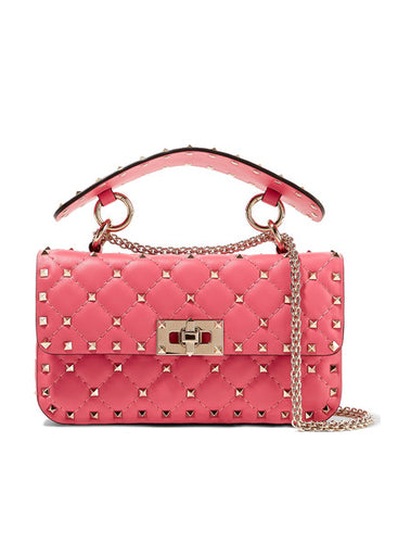 Сумка Valentino Rockstud Spike Mini розовая | Valentino Rockstud Spike Mini Pink Bag
