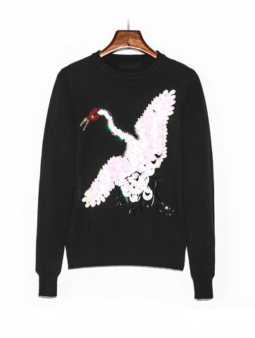 Свитер Valentino лебедь | Valentino Sweater swan