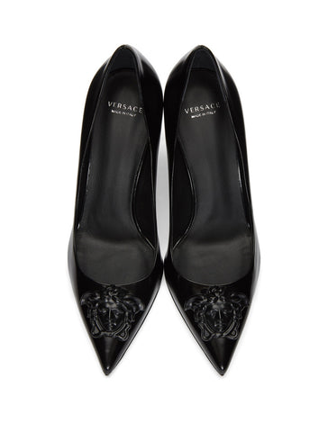 Туфли Versace черные | Versace black pumps