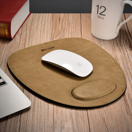 Real Leather Mouse Pad With Cushion Rest