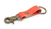 Patent Pink Key Ring With A Lock By Legendary Leather