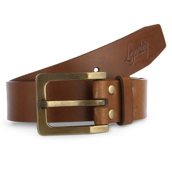 Plain Casual Tan Leather Belt By Legendary Leather