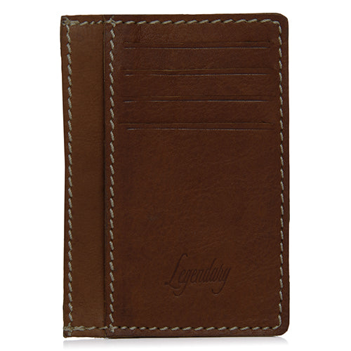 Unique Design 8 Slot Tan Leather Wallet/Card Holder