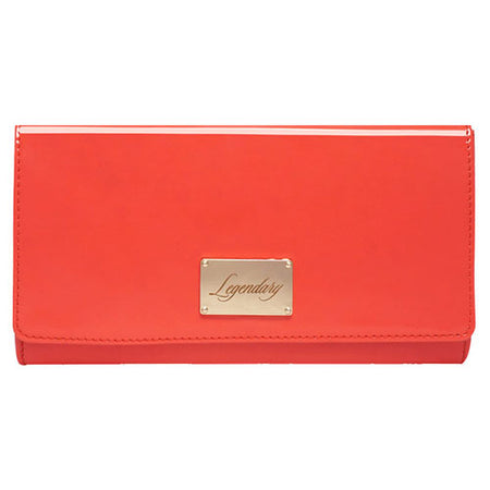 Pink leather clutch creatively designed and super stylish