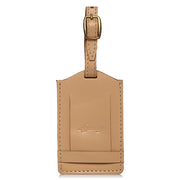 Classic Leather Luggage Tag-Beige