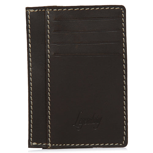 Unique Design 8 Slot Brown Leather Wallet/Card Holder
