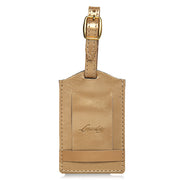 Classic Leather Luggage Tag-Gold