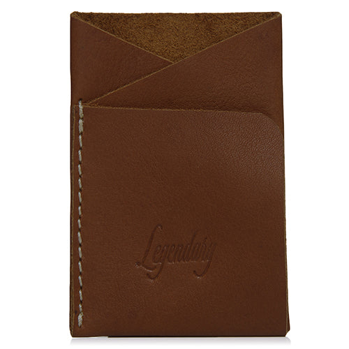 Double Fold Tan Wallet Made From Single Piece Of Leather