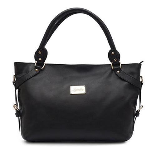 Stylish Italian Full Grain Leather Black Shoulder Handbag