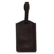 Classic Leather Luggage Tag-Black