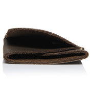 Double Fold Brown Wallet Made From Single Piece Of Leather