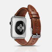 Classic Genuine Leather Series Watchband For Apple Watch-Brown