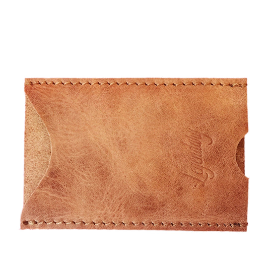Ultra Slim Minimalist Tan Card Holder By Legendary Leather **FREE EXPRESS DELIVERY**