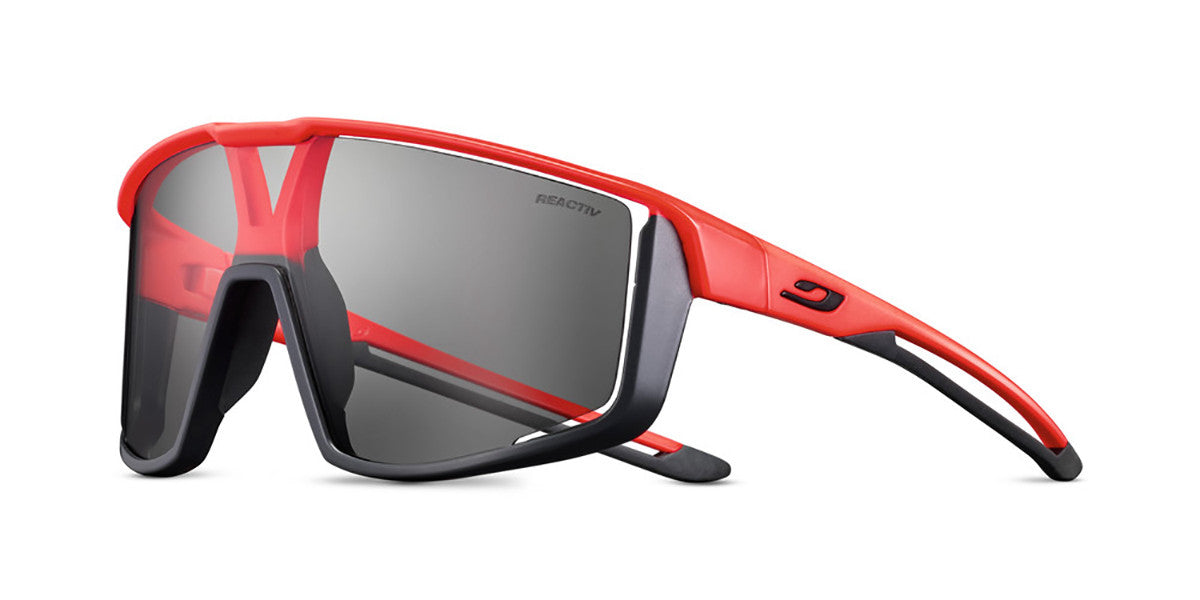Julbo Fury Sunglasses SS21 Black Orange - Reactiv Performance Lens