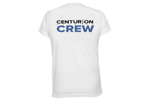 Centurion Running Crew Tee White SS17: Mens and Womens