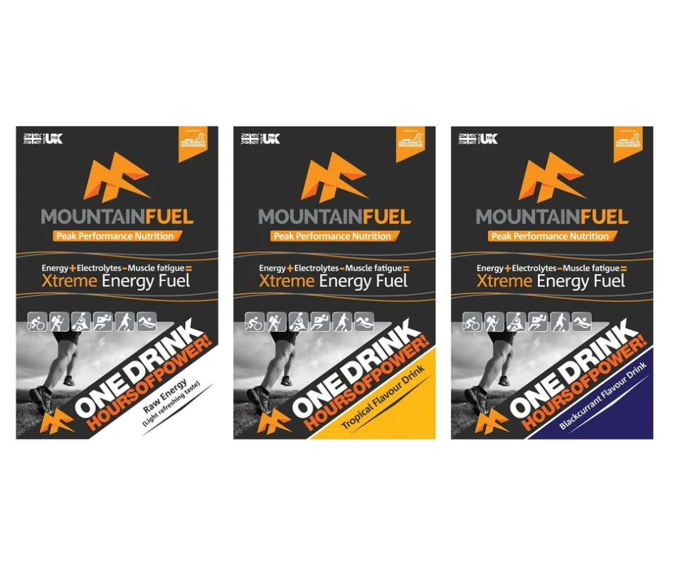 Mountain Fuel Xtreme Energy Fuel - 1.5kg (30+ serve) Bags - 3 Flavours