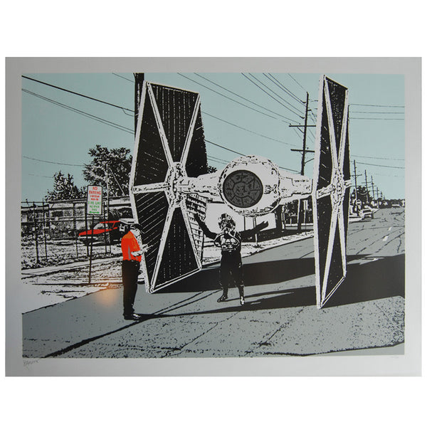 Tie Fighter Star Wars style print by Bandit