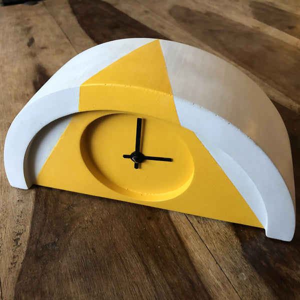 Custom Yellow Painted New Deco Clock