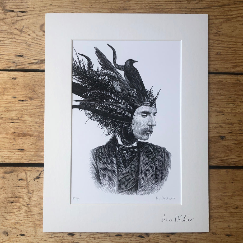 Dan Hillier Man with the Mask Print