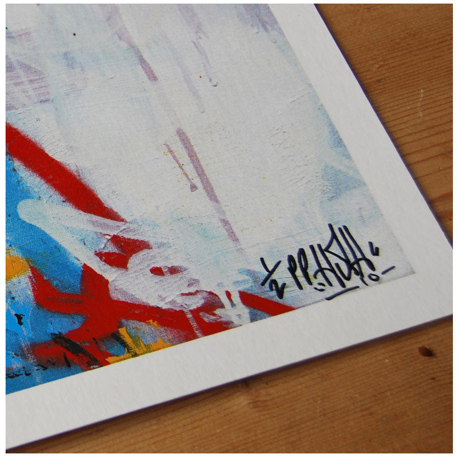HUSH Looking West signed print