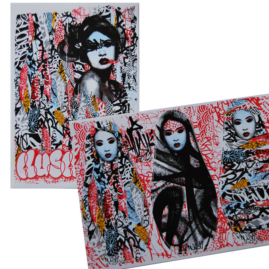 Unseen 1 & 2 print set included stickers by HUSH