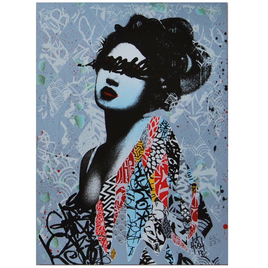 Signed Unseen 1 & 2 print set by HUSH