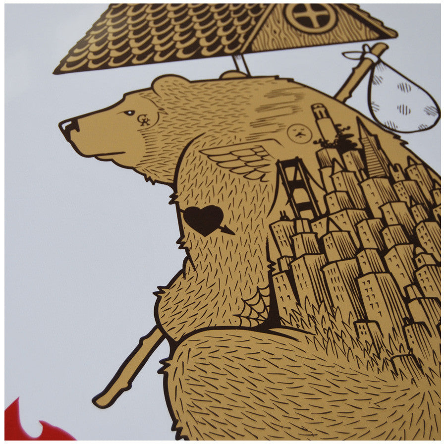 The Flag Bear limited edition by Jeremy Fish